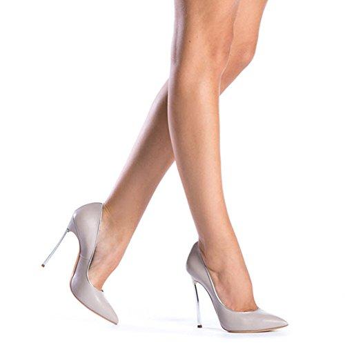Chaussures De De Pompes Fourreau Stiletto Pointu Haut Robe Mariée Onlymaker Soirée Talon Sur Bout Gris PqwHyy1S