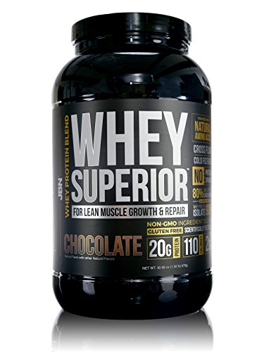 Whey Protein Powder. 20 grams of Whey Superior Protein per Serving, 30 servings, Delicious Chocolate flavor, Made in the USA. Mixes instantly. No Clumps. FREE Sample with order