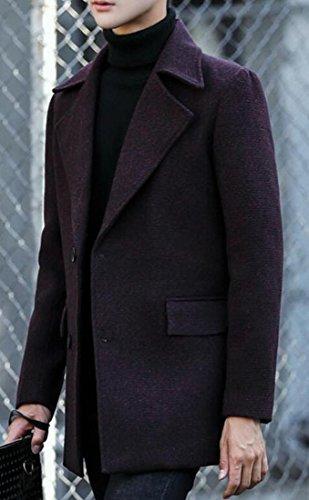 Collar Winter M Men's amp;S Outwear Wine Coat Red Turn Wool amp;W down Warm ww04gaOq