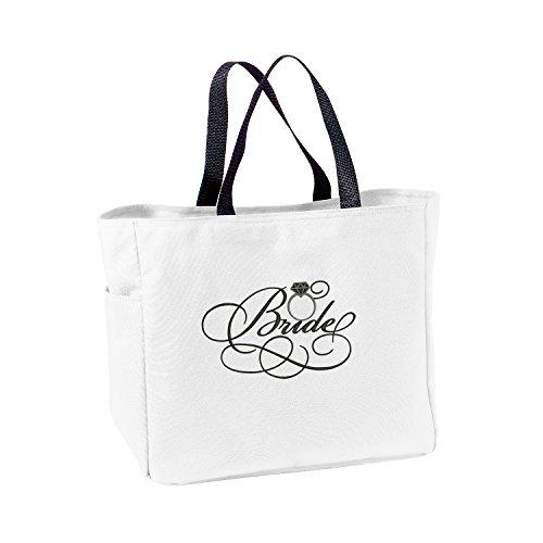 Bride Wedding Tote Bag - White and Black
