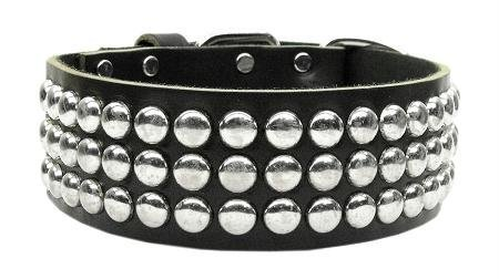 Image of Mirage Pet Products Tokyo Leather Black Dog Collar, 28""