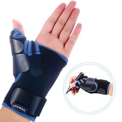 Velpeau Wrist Brace with Thumb Spica Splint for De Quervain's Tenosynovitis, Carpal Tunnel Pain, Stabilizer for Tendonitis, Arthritis, Sprains & Fracture Forearm Support Cast (Short, Left Hand -M) ()