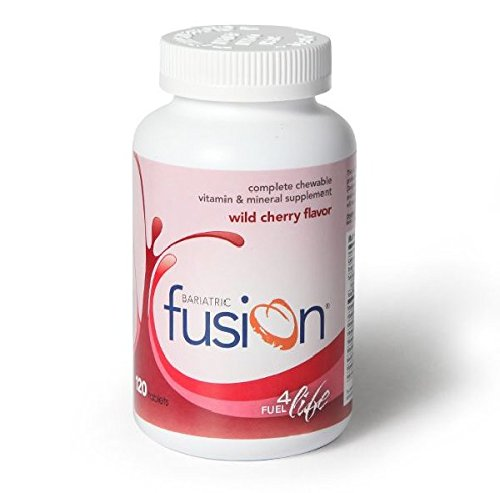 Bariatric Fusion Complete Chewable Multivitamin and Mineral Supplement Wild Cherry 120 Tablets for Gastric Bypass and Sleeve - Fusion Multi