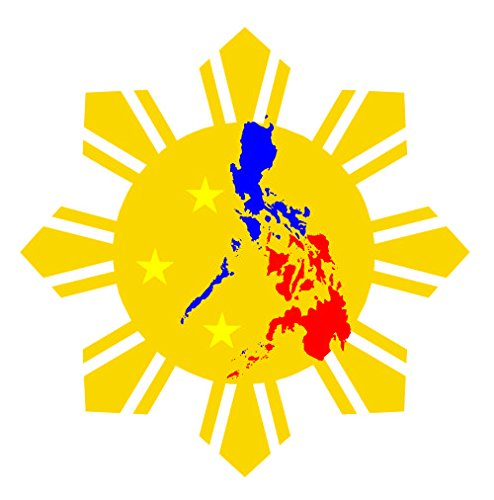 - JS Artworks Philippine Flag Sun Star Vinyl Sticker Decal