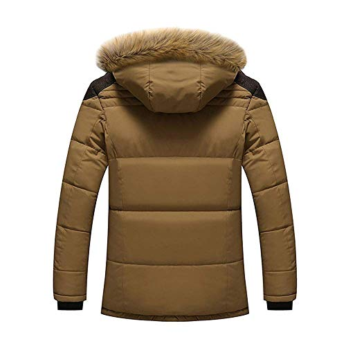 5xl Plus Coat Outdoor colore Dimensione 1 Capispalla Taglie Forti Zhrui Cotton Mens dark Zipper Khaki Warm Jacket Thick Winter Fleece Down Fur Hooded B5vw0q