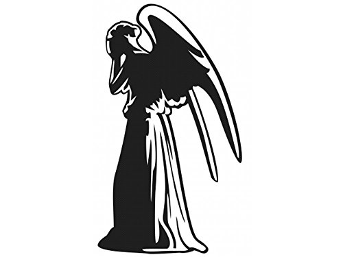 [NI997 Weeping Angel Doctor Who Inspired Decal Sticker | 6.5-Inches By 3.7-Inches | Premium Quality White] (David Tennant Who Costume)