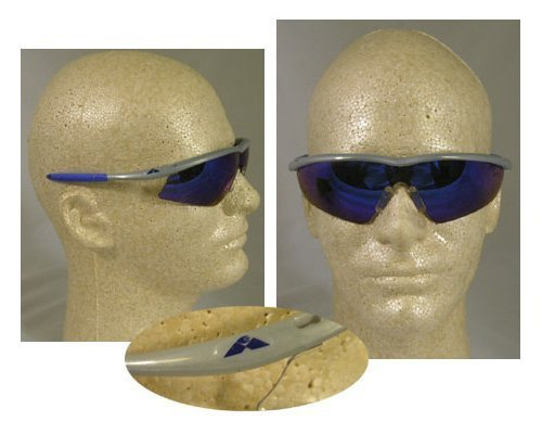 MCR Safety TM148B Tremor Sleek Hingeless Dielectric Safety Glasses with Steel Frame and Blue Diamond Mirror Lens by MCR Safety