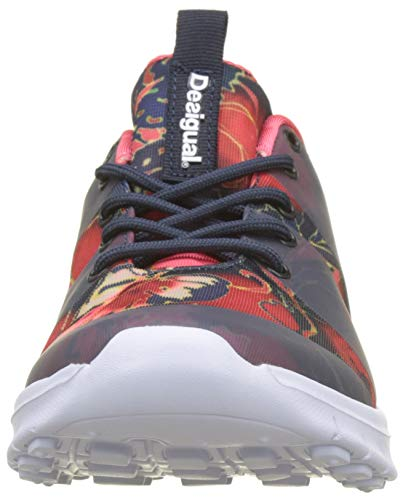 Sneaker Zapatillas Peacoat Desigual 5189 Azul para Print Scarlet Mujer Rubber wgF6dIq