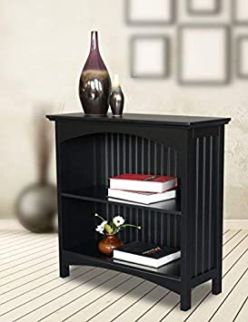 eHemco 2 Tier Bookcase in Black