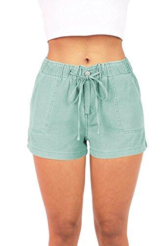 celebrity-pink-womens-super-comfy-mid-rise-linen-shorts-l-sage
