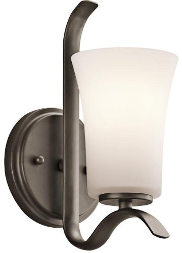 Kichler 45374OZ Armida Wall Sconce 1-Light, Olde Bronze