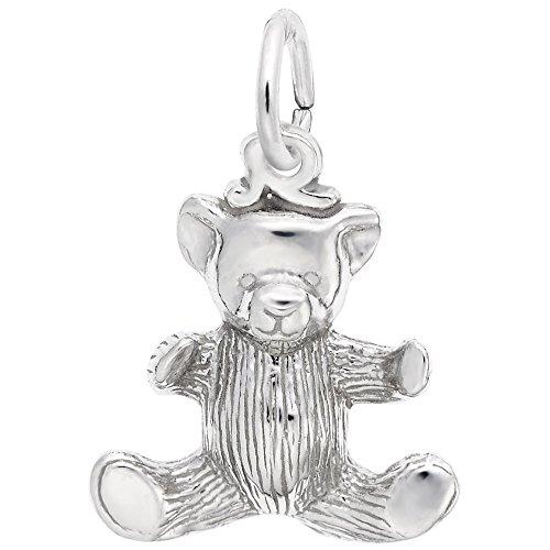 Sterling Silver Teddy Bear Charm - 2