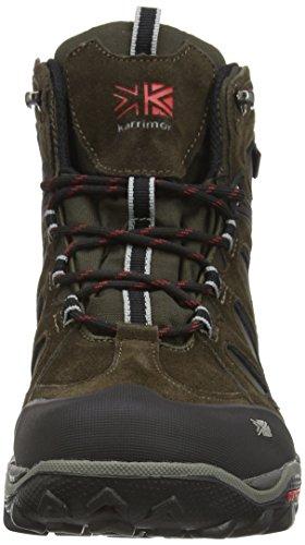 Karrimor Toledo Weathertite - High Rise Hiking de cuero hombre negro  (negro/rojo)