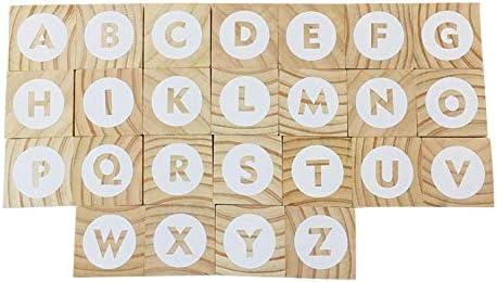 26 Puzzle Niños letras Scrabble Letra piedras de madera ideal para unterhalt Same divertido spie Lea colecciona con Amigos y en la Familia: Amazon.es: Bricolaje y herramientas