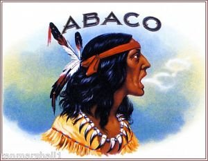 MAGNET Abaco Indian Vintage Smoke Cigar Box Crate Inner Magnet Art Print ()