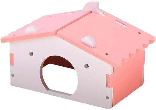 Bulz Jaula de plástico para hámster Classic de Madera, para hámsters, Ratones, pequeñas Mascotas, para Dormir y Jugar: Amazon.es: Productos para mascotas