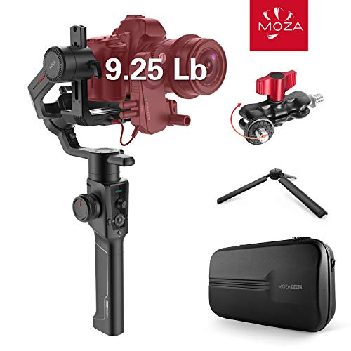 MOZA Air 2 with Hard Travel Case, 3-axis Gimbal Stabilizer, 9 Lb Payload 8 Follow Modes 16h Run-time Auto Tuning for DSLR Mirrorless Pocket Cinema Cameras, Multi-Function Double Ball Head Included (2 Axis Camera)