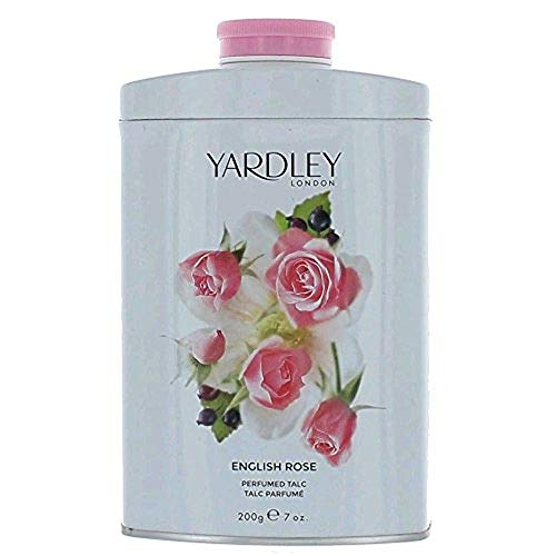 Yardley London Scented Talc Powder, English Rose Scent, 7 Oz/ 200 g