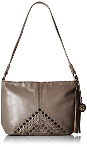 The Sak Indio Leather Demi Shoulder Bag (Slate Studs) by The Sak
