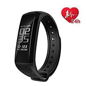 Fitness Tracker,Coolbit Activity Tracker Smart Band Calorie Counter Sports Bracelet Health Monitor Wristband W/ 24h Continuous Heart Rate Sleep Monitor Waterproof Smart Watch for Android & IOS Phones