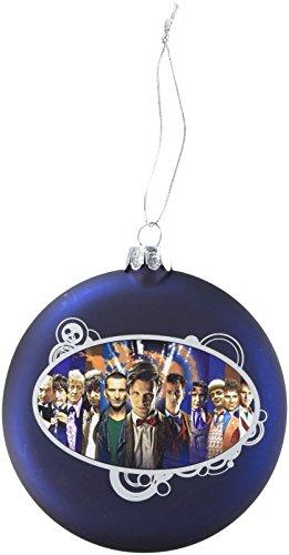 Doctor Who Kurt Adler Dr. Who Glass Disc Ornament, 100mm (Christmas Doctor Tree Who Dalek)