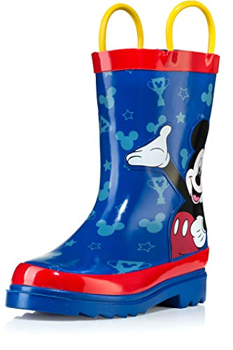 Disney Mickey Mouse Blue and Red Rain Boots - Size 5 - Mickey Army Boots Mouse