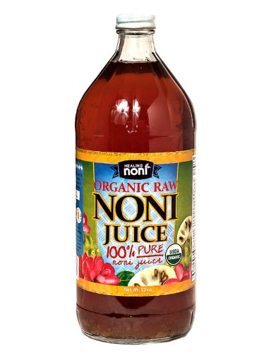 Raw Organic Hawaiian Noni Juice - 32 Ounce Glass Bottle (Noni Juice Concentrate compare prices)