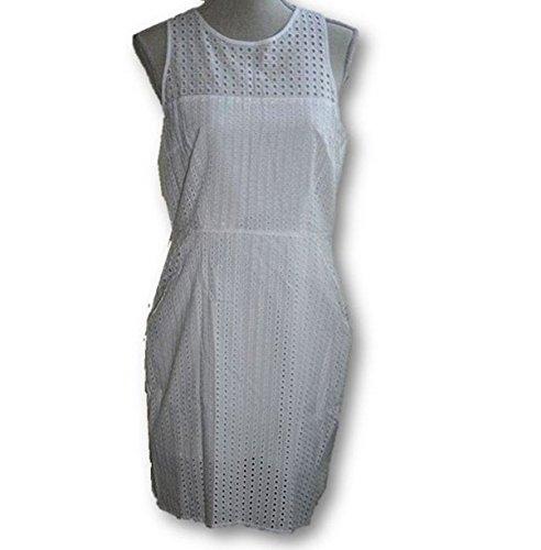 Banana Republic Women's Eyelet Racerback Dress (Size 8) White (Banana Republic Sleeveless)