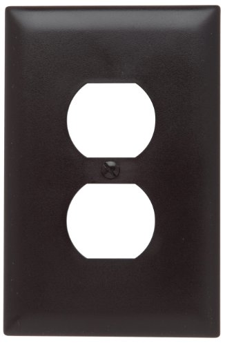 Legrand - Pass & Seymour TPJ8 Trade Master Jumbo Wall Plate with One Duplex Opening, one Gang, Brown