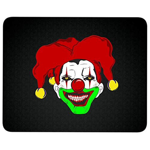 Clown Face Mug, Scary Clown Non-Slip Rubber Base Mousepad for Laptop, Computer & PC, Halloween Gift Mouse Pad(Mouse Pad - Black)