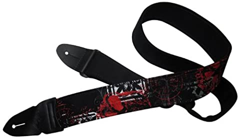 LM Products GRFS Grunge 2-Inch Furdlis Skull Guitar Strap (Grunge Guitar Strap)