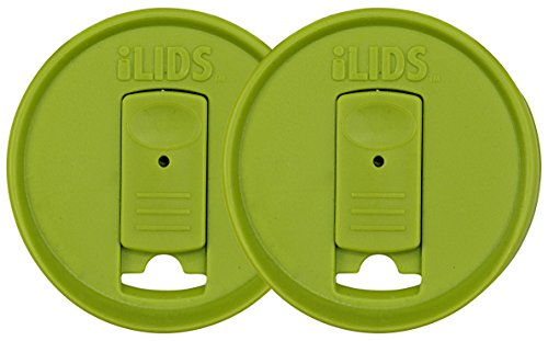 ILIDS Mason Jar Drink Lid, Regular Mouth, BPA Free, Made in the USA, Lime Green, 2-Pack