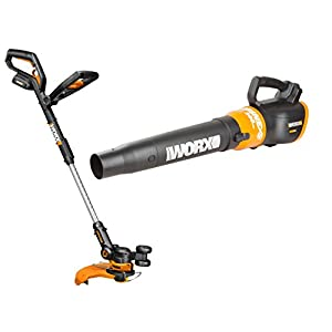Worx WO7022 20V PowerShare GT 2.0 Grass Trimmer and TURBINE Cordless Battery-Powered Leaf Blower Combo Kit