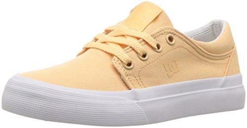 DC Trase TX Girls Skate Shoe, Peaches, 5.5 M US Big Kid