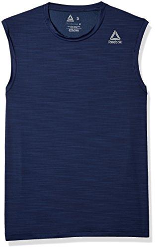 Reebok Men' Workout Ready Activchill Sleeveless Shirt, Collegiate Navy, Small
