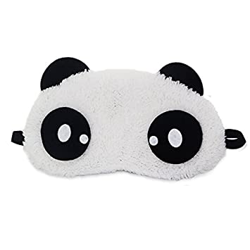 c11eea51d Buy Jenna Dot Eye s Panda Sleeping Eye Mask White Online at Low Prices in  India - Amazon.in