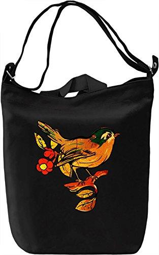 Spray Bird Borsa Giornaliera Canvas Canvas Day Bag| 100% Premium Cotton Canvas| DTG Printing|