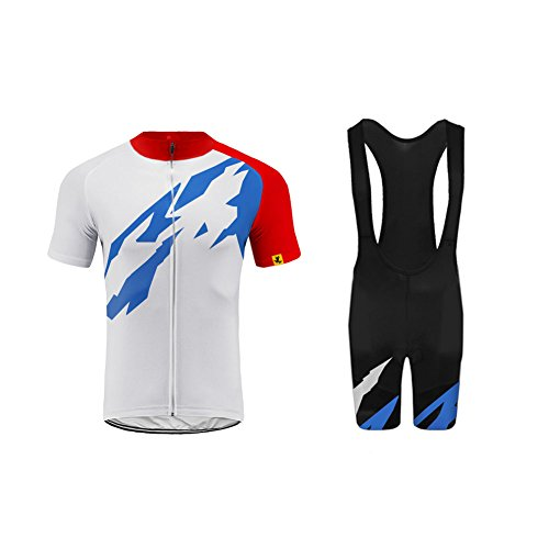 (Uglyfrog Men's Cycling Jersey Set Breathable Bike Wear Suit Bicycle Top with 3D Padded Bib Shorts Quick drying for Outdoor Sports)