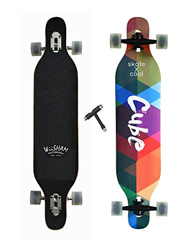 (Xtreme Free Professional Speed Drop Down Complete Longboard Skateboard(42 Inches) (1) )