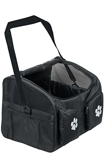 Paws & Pals Vehicle Travel Pet Booster Seat for Dogs and Cats with Fleece Bed and Carry / Seat Strap