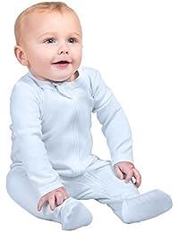 Organic Cotton Baby Boy Girl Zip Front Sleep 'N Play, Footed Sleeper, Long Sleeve (Size 0-18 Month)