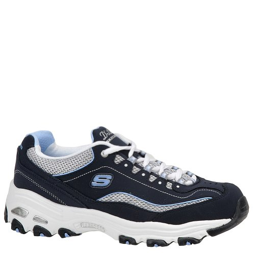 Skechers D'Lites Centennial Women's Casual Sneakers, Navy/White/Light Blue, 8 2E US