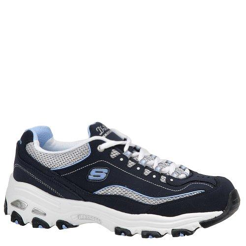 Skechers D'Lites Centennial Women's Casual Sneakers, Navy/White/Light Blue, 9 2E US