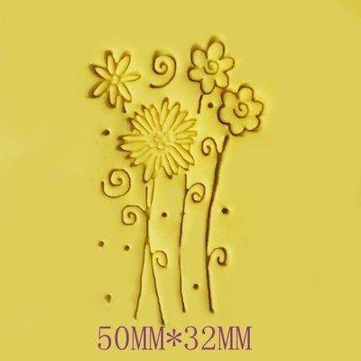 Flowers pattern Mini diy soap stamp chaprter seal badge 53.2cm