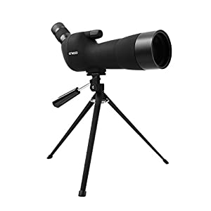 ENKEEO Waterproof Spotting Scope 20-60X60AE with Tripod Review , 45-Degree Angled Eyepiece, Optics Zoom 41-21m (134-69ft) / 1000m - Black