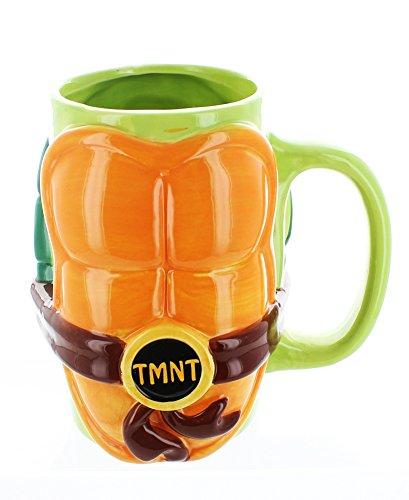 JUST FUNKY Tmnt-Cmg-5027-Jfc Teenage Mutant Ninja Turtles Molded Shell Mug
