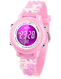 Kids Watch, 3D Cartoon Watch with 7 Color Lights and Alarm - Best Gift