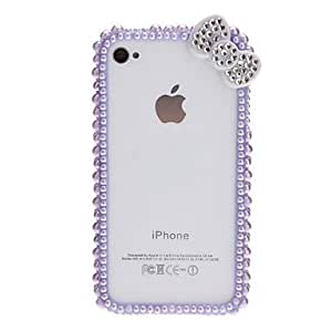 Sweet Design Pearl Bumper Frame with Nail Adhesive for iPhone 4/4S (Assorted Colors) , Green