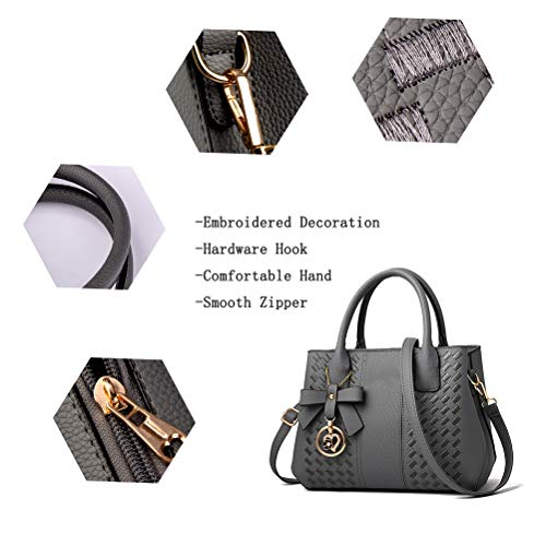 Purses and Handbags for Women Fashion Ladies PU Leather Top Handle Satchel Shoulder Tote Bags 7