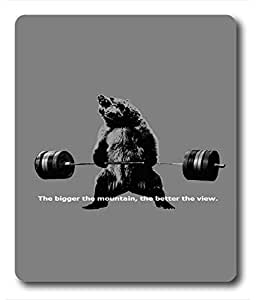 Mouse Pads / Mouse Mats Bear Lifting Weights Quote PC Custom Mouse Pads / Mouse Mats Case Cover by ruishername